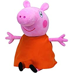 Peppa Pig - Peluche Mummy Pig, 22 cm, color naranja (TY 96232TY)