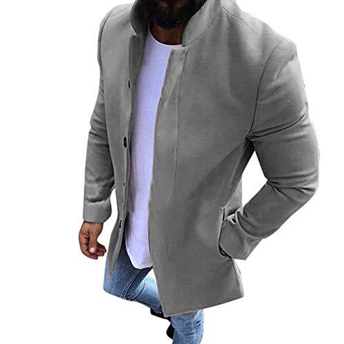 Luckycat Herren Winter warme Wollmantel Volltonfarbe Business Casual Trenchcoat Outwear Winterjacke Steppjacke Daunenjacke Parka Mäntel Jacken