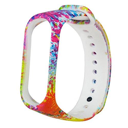 UNMIZ Ersatzband Mode weichem Silikon Ersatz Armband Handschlaufe für Xiao Mi Band Farben Uhrenarmband(AS Show) (Seiko-uhr-handgelenk-band-pins)