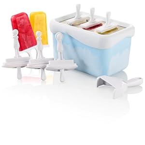 Rosenstein & Söhne Eis Blitz: Express Eis am Stiel Zubereiter (15 Minuten für 3 Schleck-Eis) (Eis am Stiel Maschine)