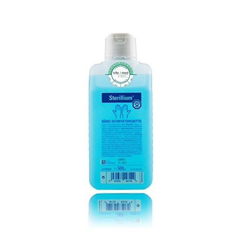 Sterillium 500ml Hände Desinfektionsmittel mit Vitamed Verwendungs-/ Haltbarkeitssiegel, für sicheren effizienten hautverträglichen Infektionsschutz (10x 500ml)