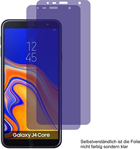 2X ANTIREFLEX matt Schutzfolie für Samsung Galaxy J4 Core Bildschirmschutzfolie Displayschutzfolie Schutzhülle Bildschirmschutz Bildschirmfolie Folie