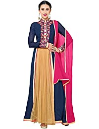Salwar Suit ( Shoponbit New Designer Pink And Navy Blue Salwar Suit )