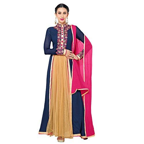 Salwar Suit ( Shoponbit New Designer Pink And Navy Blue Salwar Suit...