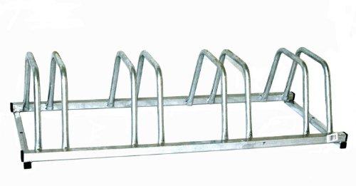 Preisvergleich Produktbild Fahrradständer für 4 Fahrräder 100x39 cm n-Form feuerverzinkt (Bike-Ständer für Fahrrad / Mountainbike)