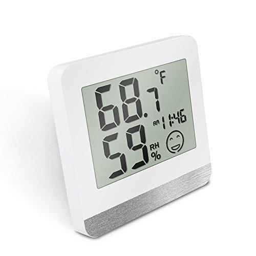 Digital Thermometer, protmex Innen Luftfeuchtigkeit Monitor Thermometer Hygrometer (℃/℉) mit max/min Records und Uhr, für Küche, HOME, Restaurants (Innen-luftfeuchtigkeit)