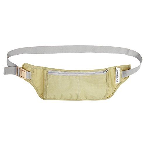 Lumaland Marsupio portasoldi portafoglio di sicurezza in beige