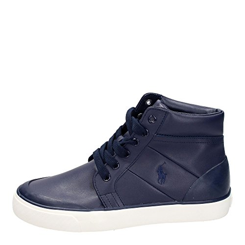 Polo Ralph Lauren ISAAK Sneakers Uomo Pelle Blu Blu 41