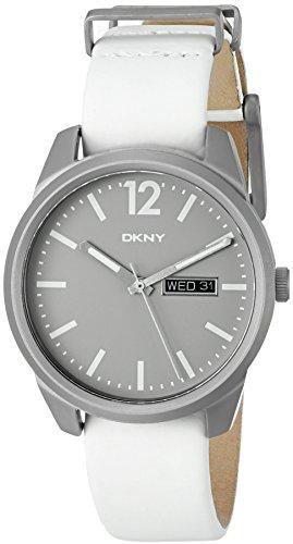 DKNY Women's 'Bryant Park' Quartz Titanium and White Leather Casual Watch (Model: NY2445)