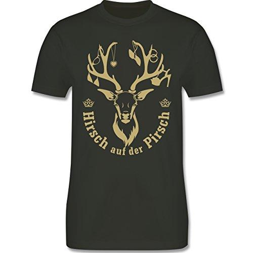 JGA Junggesellenabschied - Hirsch auf der Pirsch - Herren Premium T-Shirt Army Grün