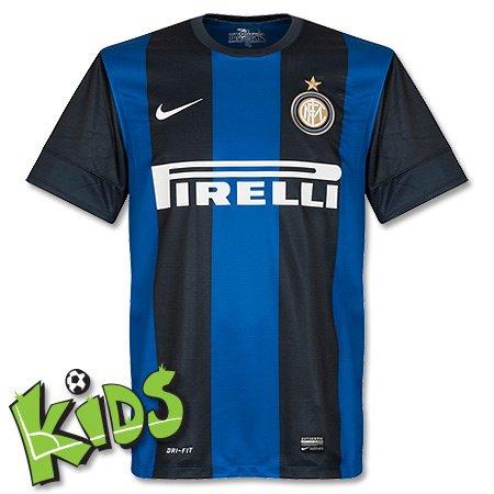 Nike Kinder kurzärmliges Trikot Inter Mailand Home Replica, black/royal blue/football white, M, 479310-010