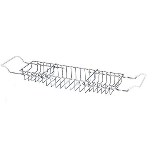 Home Discount® Extendable Bath Tub Rack Bathroom Storage Holder Tray