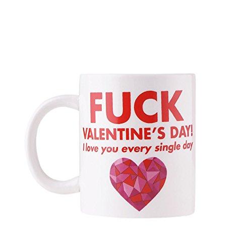 Tazza di san valentino - design particolare con messaggio, impacchettati con un fiocco rosso, ideale regalo di san valentino