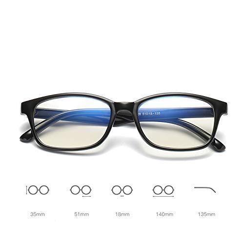 FANGUGF Flache Gläser Lesebrille Damen Herren Optische Brille Retro Computer Normale Brille