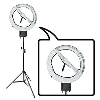 Fotoconic 40W 5400K Fluorescent Daylight Ring Light with 90cm Stand and Diffuser Sock for Studio Makeup Beauty Selfie Video Photo Lighting - cheap UK light shop.