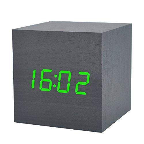GANGHENGYU Wooden LED Wecker Desktop Mute Hölzerne Uhr Elektronische  Digital Temperatur Zeit Datum Kalender Startseite Reisen