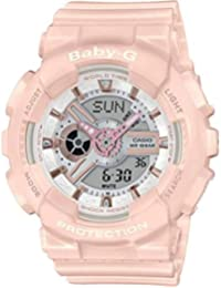 Casio Analog-Digital White Dial Women's Watch-BA-110RG-4ADR (BX158)