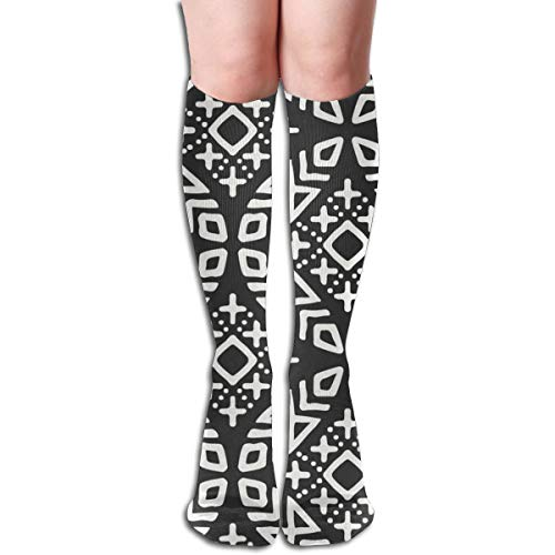 Women's Fancy Design Stocking Modern Moroccan Multi Colorful Patterned Knee High Socks 19.6Inchs - Stance-tank