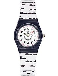 Lulu Castagnette - 38807 - Montre Fille - Quartz Analogique - Cadran Blanc - Bracelet Plastique Multicolore