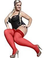 PLUS SIZE HOLD-UPS STOCKINGS BELLA RED 15 DEN size XL/XXL (5/6) by ADRIAN HOSIERY