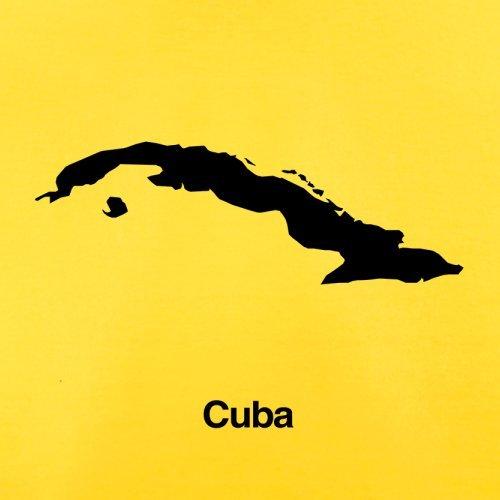Cuba / Kuba Silhouette - Herren T-Shirt - 13 Farben Gelb