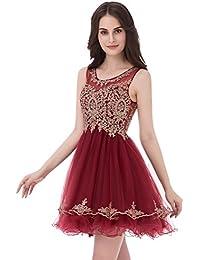 Amazon.it  brillantini - Rosso   Vestiti   Donna  Abbigliamento 8a6775db3e1