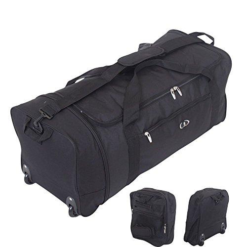 32-inch-large-folding-wheeled-travel-sports-cargo-holdall-duffle-bag-black