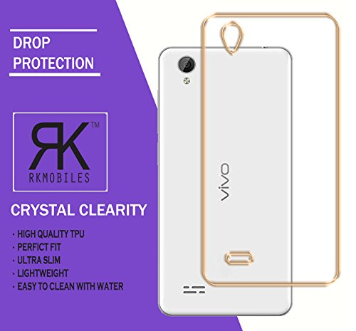 Vivo Y31L Electroplated Edge TPU Thin Flexible Back Case Cover - Golden (For Vivo Y31L)