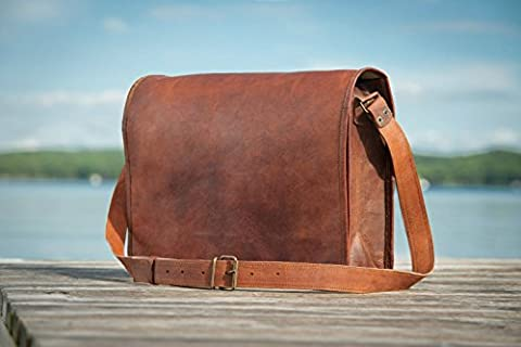 Leder Messenger Bag 15
