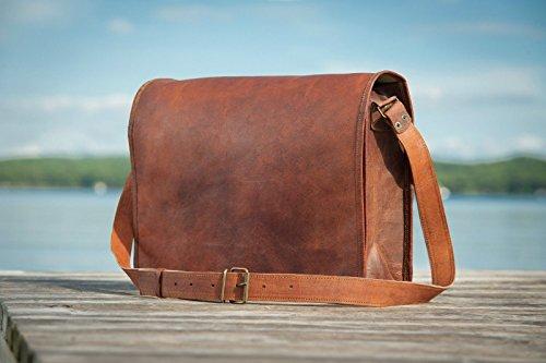 Alle Größen Leder Messenger Bag Leder Full Flap Laptop Tasche Eco freundliche Ledertasche - kostenlose Überraschung Geschenk