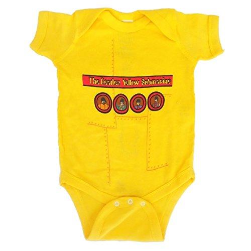 Bravado - Camiseta - Niños e ragazzi de color Amarillo de talla 6 Months - Bravado Beatles 'Yellow Submarine' 2-Sided Giallo Onesie (6 Months)