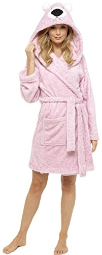 - 41vzTvn5urL - KATE MORGAN Ladies Luxury Warm, Soft & Cosy Animal Hooded Robe / Dressing Gown