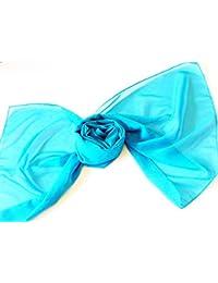 Lovely Soft Feel Long Plain Chiffon Scarves Wrap Stole Neck tie Choir Scarves (Turquoise)