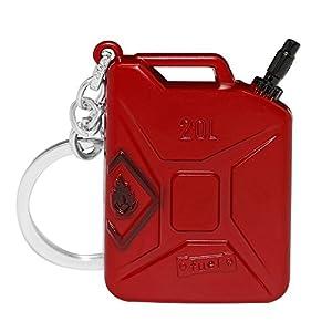 UpChoice Mini PUBG Metall Schlüsselanhänger Der Jedi Survival Battle Rucksack Anhänger Royal Battle Decor Zubehör -Red Barrels