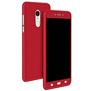 Note 4 Redmi Phone Cover All Sides Protection 360 Degree Sleek Rubberised Matte Hard Case Back Cover For XIAOMI REDMI NOTE 4 -Red