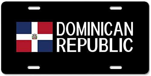 Fhdang Decor Dominikanische Republik: Dominic, Aluminium, Nummernschild, Schminkschild, 4 Löcher, Autozubehör, 15,2 x 30,5 cm -
