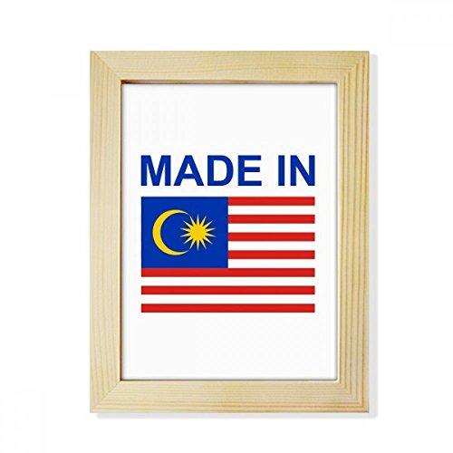 DIYthinker Hergestellt im Malaysia Land Liebe Desktop-HÖlz-Bilderrahmen Fotokunst-Malerei Passend 15.2 x 20.2cm (6 x 8 Zoll) Bild Mehrfarbig