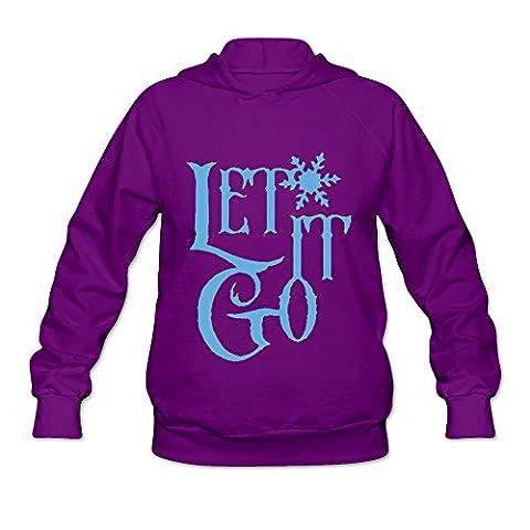 XJ-cool Let It Go Women's Long Sleeve Hoodies Purple Size (American Heart Baby T-shirt)