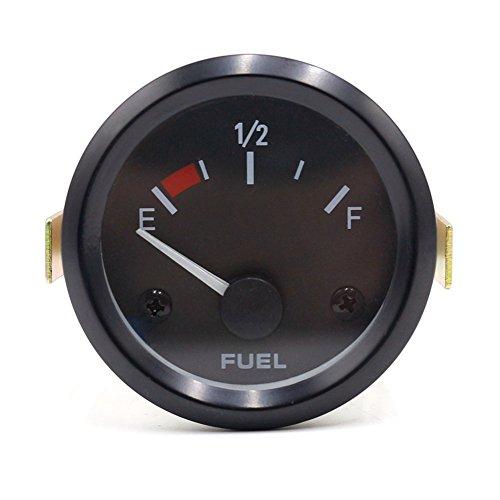 12V Auto Universal Tankanzeige Set mit Sensor Gas Flüssigkeit-Ebene E-1/2-F Wertebereich Digitalanzeige Meter Auto Änderung Motorradteile (Fuel Level Gauge)