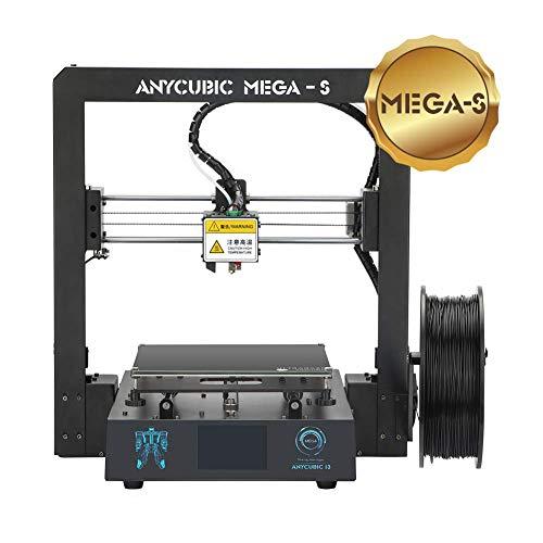 ANYCUBIC Mega-S 3D Drucker mit Gute Qualität Extruder Vollmetall-Rahmen und Ultrabase Heizbett 1,75 mm Filamente TPU, PLA, ABS geeignet