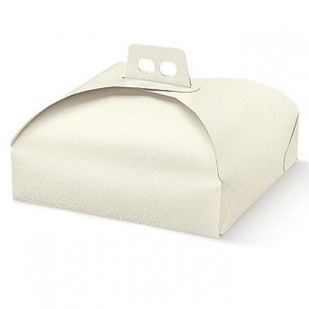 3piezas Caja cartón para tarta. Formato cuadrado 33x 33cm en color blanco genérico.
