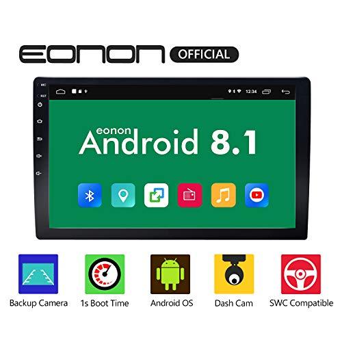 eonon 2din Android 8.1 Indash Car Digital Audio Video Stereo Autoradio 10,1 zoll HD LCD Touchscreen GPS Sat Nav FM AM RDS Bluetooth USB SD OBD2 WiFi 4G Headunit GA2168K (NO CD/DVD) (Auto Stereo-lcd-bildschirm Gps)