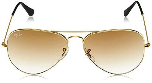 506c73ecaaf60 Rayban Aviator unisex Sunglasses (RB3025 001 51 55 14 55 millimeters Light  ...