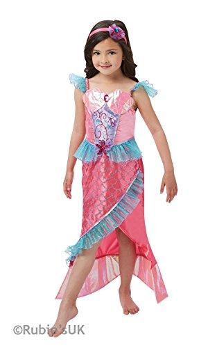 (Rubie's Official Deluxe Meerjungfrau Prinzessin Kostüm Mädchen-medium - Rosa, S - 98 - 104)