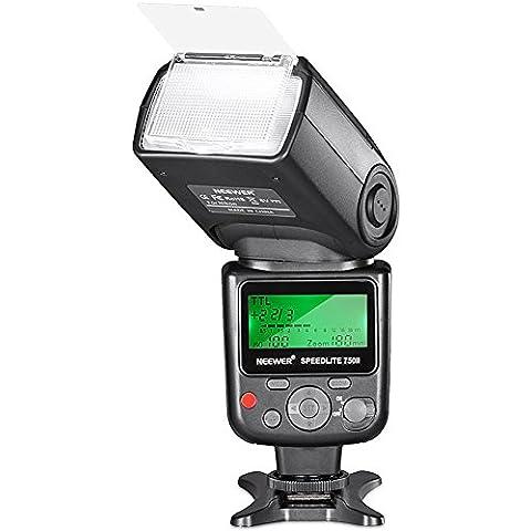 Neewer VK750 II i-TTL Speedlite - Flash con pantalla LCD para Cámaras Digitales SLR Nikon D7100 D7000 D5200 D5100 D5000 D3000 D3100 D300 D300S D700 D600 D90 D80 D70 D70S D60