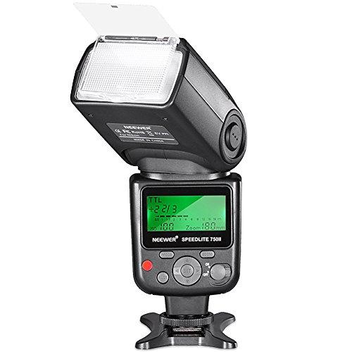Neewer 750II TTL Blitz Speedlite mit LCD Display für Nikon D7200 D7100 D7000 D5500 D5300 D5200 D5100 D5000 D3300 D3200 D3100 D3000 D700 D600 D500 D90 D80 D70 D60 D50 und alle anderen Nikon DSLR Kameras