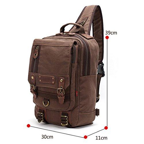Imagen de uwild ® crossbody del hombro  bolsa de viaje honda  sin honda del morral del hombro del bolso del bolso táctico brown  alternativa