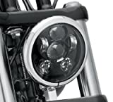 #5: Wiipro Wiipro 5-3/4 5.75 Inch Round LED Daymaker Headlight for Harley Davidson Dyna Motorcycles 9PCS 45W Projection Lights Black