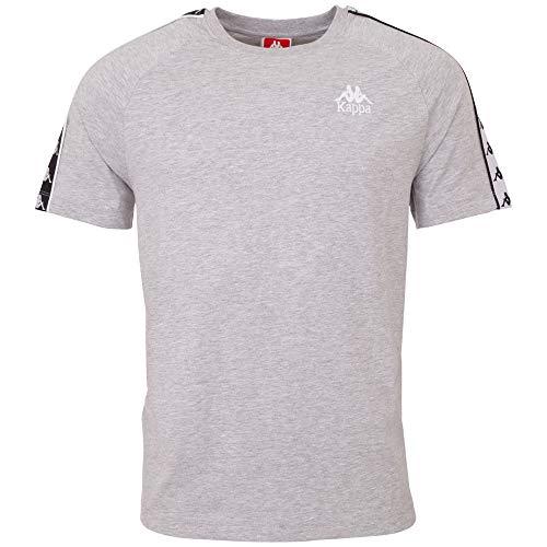 Kappa Herren Emanuel T-Shirt, 18M Grey Melange, L