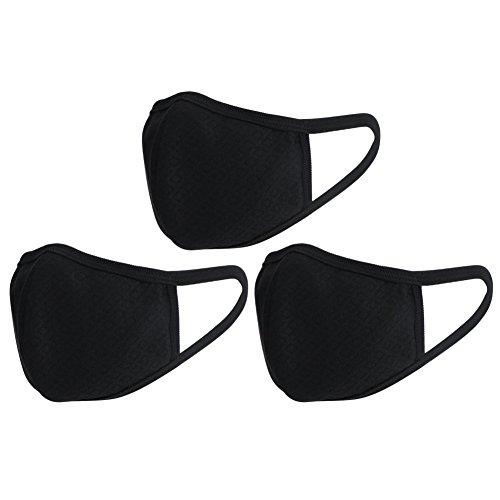 3pcs máscaras boca algodón 3d máscara protección